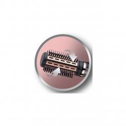 Perie rotativa Remington Keratin Protect AS8810, 1000W, cheratina, ulei de migdale, 3 accesorii, Gri/Aramiu AS8810