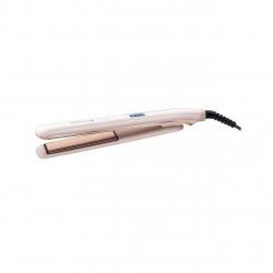 Placa de indreptat parul Remington PROluxe S9100, Invelis ceramic Ultimate Glide, OPTIheat, 230°, LCD, 9 setari temperatura, Incalzire rapida, Alb S9100