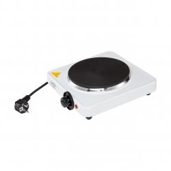 Plita Electrica Adler  AD 6503,  1500W ,Un arzator,  Suprafata de gatire de 180 mm,Control Temperatura, Alb/Negru