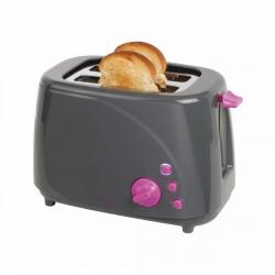 Prajitor de paine DomoClip DOD150GVI, 850W, 2 felii, 5 nivele de temperatura, Gri/Violet