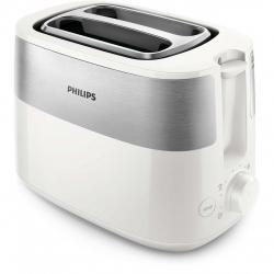 Prajitor de paine Philips HD2516/00, putere 830 W, 2 fante, functie dezghetare, control variabil, Alb/Inox