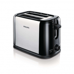 Prajitor de paine Philips HD2586/20 , 2 fante, Putere 950 W, Gri/Negru