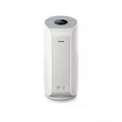 Purificator de aer Philips AC3055/50, Tehnologie AeraSense, Tehnologie VitaShield, Feedback real privind calitatea aerului, Conectivitate Bluetooth, 3 moduri automate, afisaj digital, Senzor PM2,5, Alb