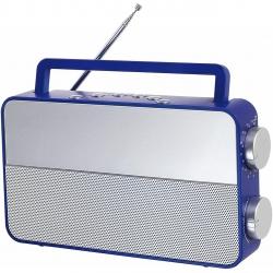 Radio analogic AM/FM Clip Sonic RA1048B, port casti , auxiliar 3.5mm, Albastru/Gri