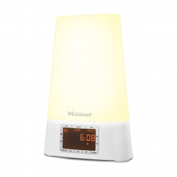 Radio cu alarma si lumina Medisana WL460 45115, Functie MP3 player , 7 culori, Temporizator, Alarma, Alb