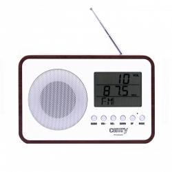 Radio digital Camry CR 1153 , ceas, termometru, alarma, lcd, calendar, alb