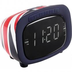 Radio FM cu alarma Clip Sonic AR313, 20 de frecvente radio presetate , AUX , display digital, Negru