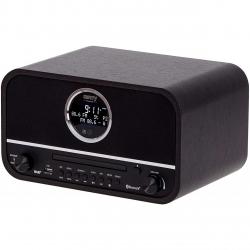 Radio retro Camry CR 1182, Carcasa din lemn, Ceas, Bluetooth, CD, Negru