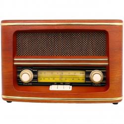 Radio Retro Vintage, Carcasa Lemn, Putere 9W, CR 1103
