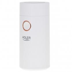 Rasnita de cafea Adler AD 4446wg, 75 g, 150 W, Alb/Auriu