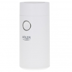 Rasnita de cafea Adler AD 4446ws, 75 g, 150 W, Alb/Argintiu