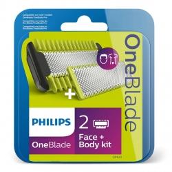 Rezerva OneBlade QP620/50 , 1 lama fata, 1 lama corp, 1 pieptene, compatibil cu gama OneBlade