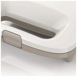 Sandwich maker Philips HD2395/00, Putere 820 W, placi neaderente, indicator luminos, Alb