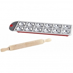 Set 12 forme pentru ravioli aluminiu, Kitchen Artist, argintiu Men282