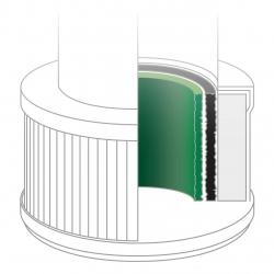 Set 2 filtre de aer 60391 pcompatibile cu purificatorul de aer Medisana 60300