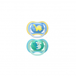 Set de 2 suzete Philips AVENT ultra air SCF349/11,18 luni, Ortodontice,