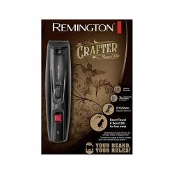 Set de tuns barba Remington Crafter MB4050, 0.4-35 mm, Acumulator Litiu, Foarfeca, Perie, Pelerina, Prosop, EdgeStyler, Negru