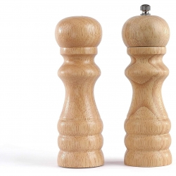 Set rasnite pentru sare si piper Livoo MEN380, Rasnita ceramica, Finisaje din lemn