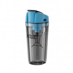 Shaker electric Russell Hobbs Instamixer 24880-56, 0.6 l, Litiu, USB, Albastru