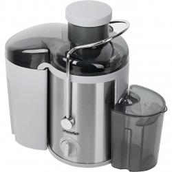 Storcator de Fructe Mesko, Putere 600W, 3 Viteze, Colector Pulpa 1.5L, Recipient Suc 0.45L, Culoare Negru/Argintiu