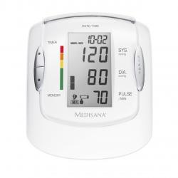 Tensiomentru de brat Medisana MTP  Pro 51090, 99 memorii pentru 2 utilizatori, Display LCD, Husa transport , Alb