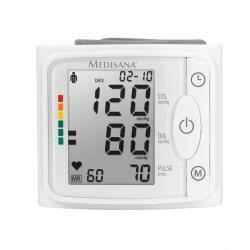 Tensiometru de incheietura Medisana  BW 335 51077, Display LCD, 120 memorii pentru 2 utilizatori, Alb