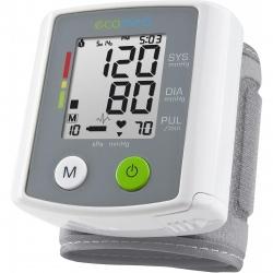 Tensiometru de incheietura Medisana BW 80E 23210, 90 memorii, 2 utilizatori, Alb/Gri