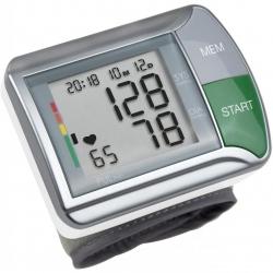 Tensiometru de incheietutra Medisana HGN 51067, 120 memorii, 2 utilizatori , Alb/Argintiu