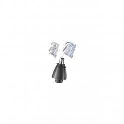 Trimmer pentru nas si urechi Remington Nano Series NE3850, 2 capete, trimmer rotativ, varfuri rotunjite, Negru NE3850