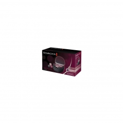 Trusa de bigudiuri electrice Remington Ionic H5600, 20 bigudiuri, 3 marimi, Ionizare, Invelis catifelat, Nucleu ceara, Negru H5600