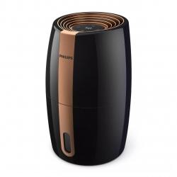 Umidificator aer Philips HU2718/10, 200 ml/h, Tehnologie NanoCloud, Senzor umiditate, Rezervor 2 L, 3 setari umiditate, Pana la 32 m2, Negru/cupru