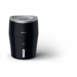 Umidificator de aer Philips series 2000 HU4813/10, 300 ml/h, Tehnologie NanoCloud, Setări de umiditate automate, Timer, Negru/Argintiu