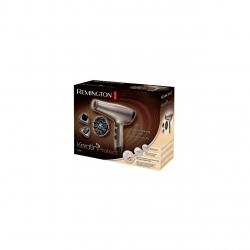 Uscator de par Remington Keratin Protect AC8002, 2200W, 3 trepte temperatura, 2 viteze, Cool Shot, 2 concentratoare, Difuzor volum, Auriu