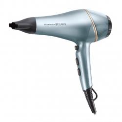 Uscator de par Remington Shine Therapy PRO AC9300, 2200 W, Motor AC, Generator Ioni, Albastru