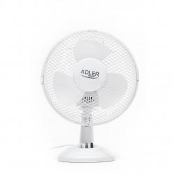 Ventilator Adler AD 7302, 35 W, 2 trepte de viteza, 23 cm diametru, functie de oscilare, Alb