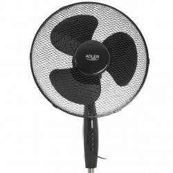 Ventilator cu picior ADLER  AD7323b, 3 setari de viteza, 45W, inaltime reglabila, Negru