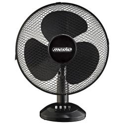 Ventilator de birou Mesko MS 7310, 45 W, 40 cm diametru, 3 trepte de viteza, functie de oscilare, Negru