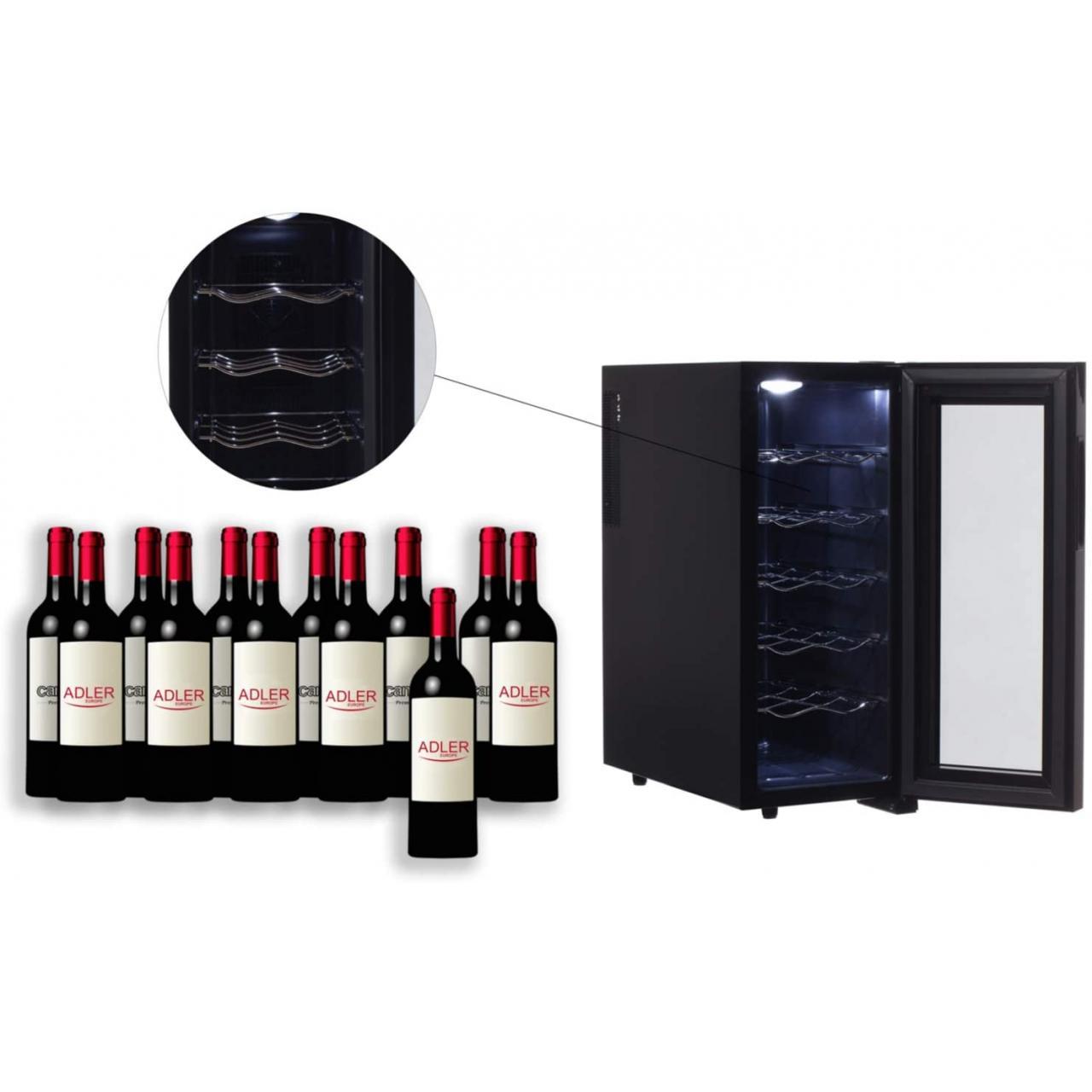 Frigider pentru vin AD8075 12 sticle, 33 L