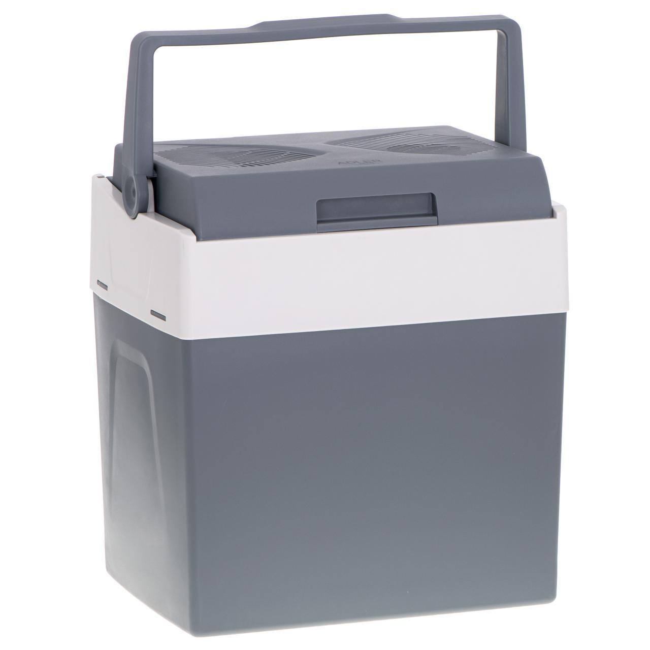 Lada frigorifica auto ADLER AD8078, 220 / 12V, capacitate 30L, cu functie de racire si incalzire, 55W, 43.5x39.6x29.7cm, gri